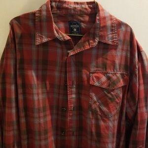 Redhead plaid shirt